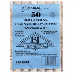 BOUCHON NATUREL 10ANS X50