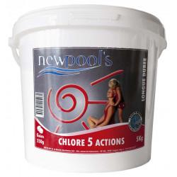 Chlore 5 actions galet La...